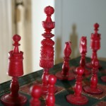 General Lane's hand carved chess set.