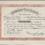 Clarence & Juanita's marriage certificate