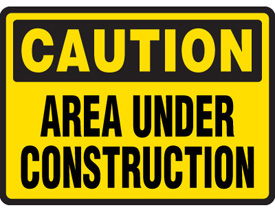 Caution: Douglas Avenue in Roseburg is under Construction.